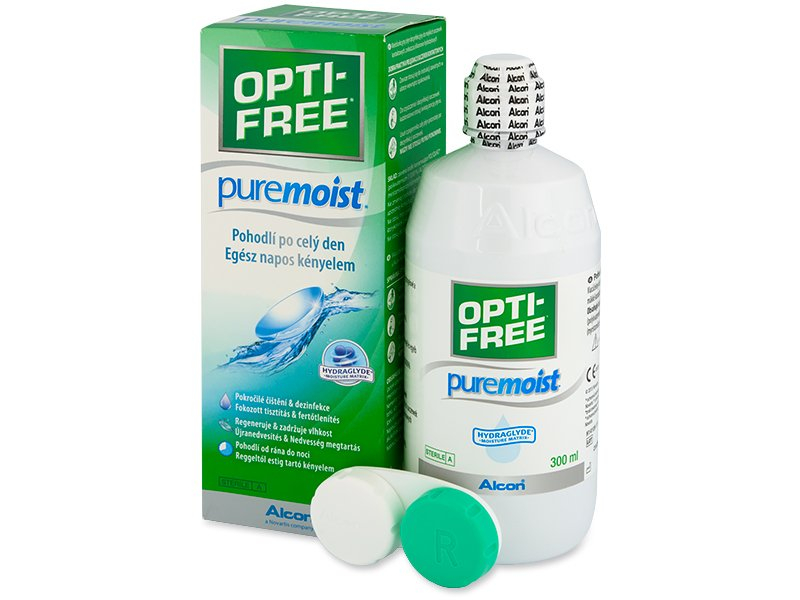 Image of   OPTI-FREE PureMoist Linsevæske 300 ml