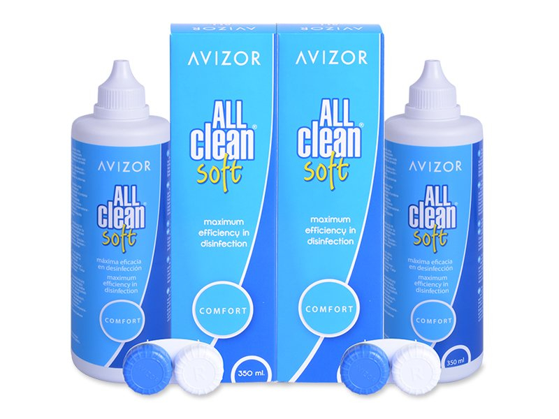 Image of   Avizor All Clean Soft linsevæske 2 x 350 ml