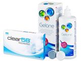 Clear 58 (6linser) +GeloneLinsevæske 360ml