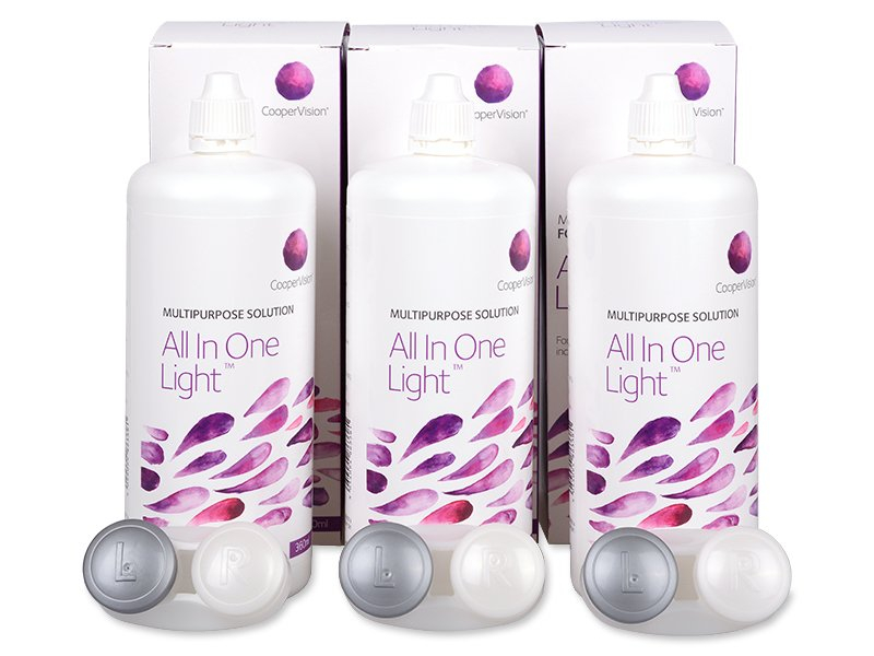 Image of   All In One Light Linsevæske 3 x 360 ml