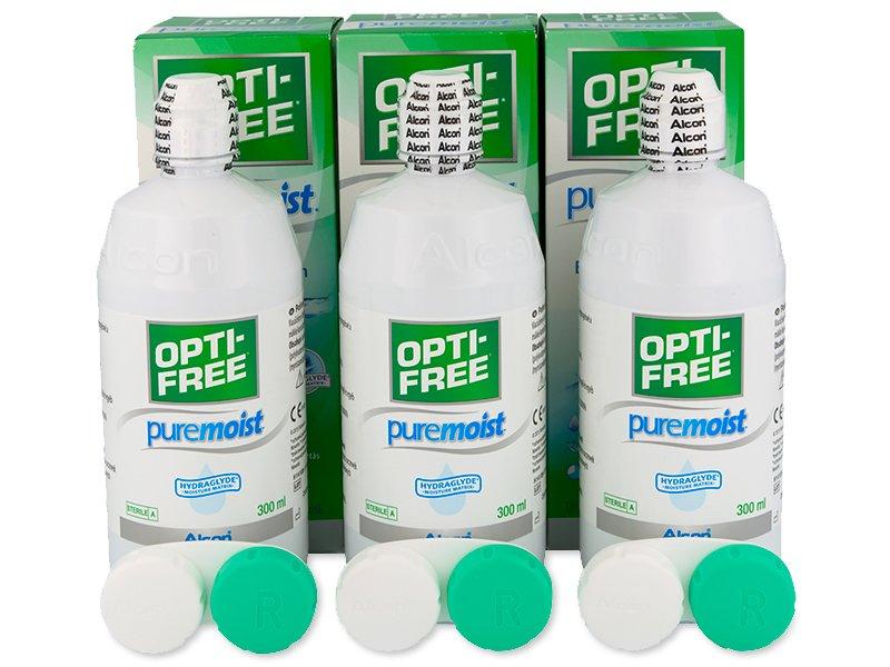 Image of   OPTI-FREE PureMoist Linsevæske 3 x 300 ml