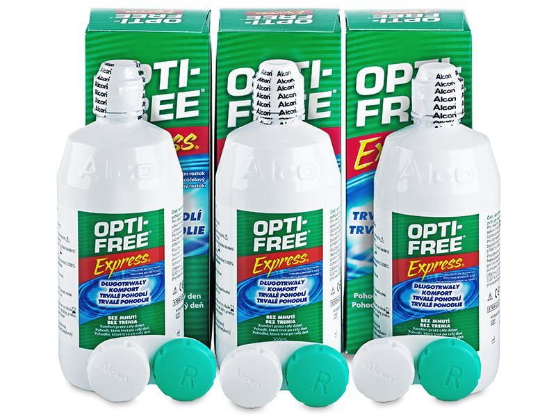 Image of   OPTI-FREE Express Linsevæske 3 x 355 ml