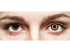 ColourVUE Crazy Lens - Orange Werewolf - uden styrke (2 linser)