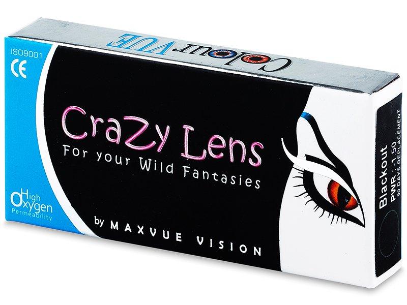 ColourVUE Crazy Lens - BlackOut - med styrke (2 linser)