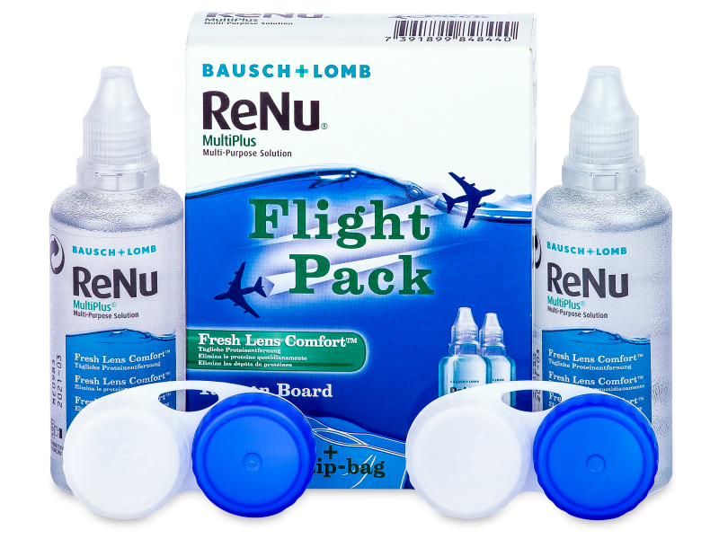 Image of   ReNu Multiplus flight pack 2 x 60 ml