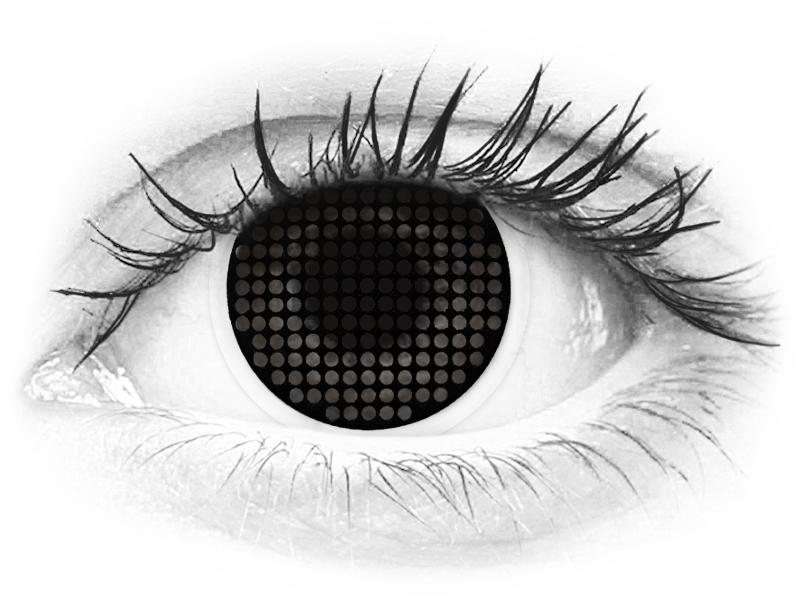 ColourVUE Crazy Lens - Black Screen - uden styrke (2linser)