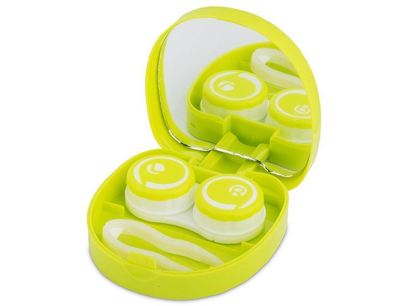 """Spejlæske med etui """"Smile"""" - grøn"""