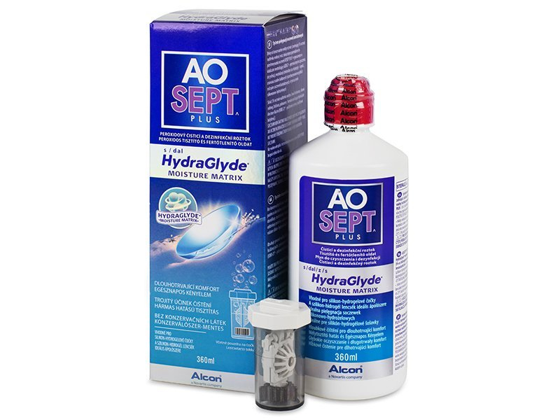 Image of   AOSEPT PLUS HydraGlyde 360 ml Linsevæske