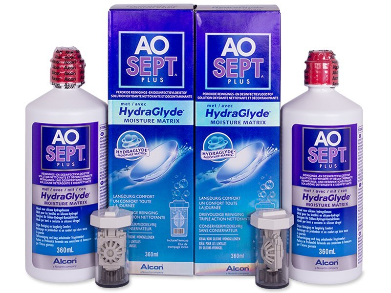Image of   AOSEPT PLUS HydraGlyde 2x360 ml Linsevæske