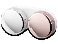 alensa.dk - Kontaktlinser - Kontaktlinseetui med spejlrefleks – lyserød/sølv