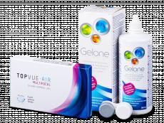 TopVue Air Multifocal (3 linser) + Gelone Linsevæske 360 ml