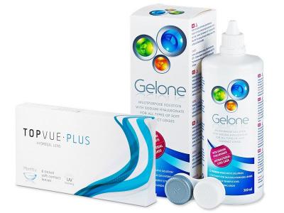 TopVue Monthly Plus (6linser) + Gelone Linsevæske 360 ml
