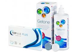 TopVue Monthly Plus (6linser) + Gelone Linsevæske 360 ml - TopVue
