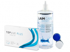 TopVue Monthly Plus (6linser) + Laim-Care Linsevæske 400 ml