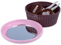 alensa.dk - Kontaktlinser - Linsekasse med spejl Muffin -  lyserød