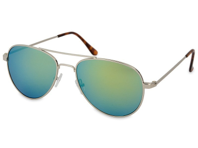 Silver Aviator solbriller – Blå/Grøn