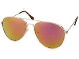 alensa.dk - Kontaktlinser - Guld Aviator solbriller - Lyserød/Orange