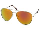 alensa.dk - Kontaktlinser - Silver Aviator solbriller – Lyserød/Orange