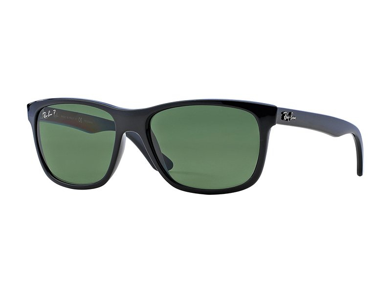 ray ban sort afrundede firkantede solbriller