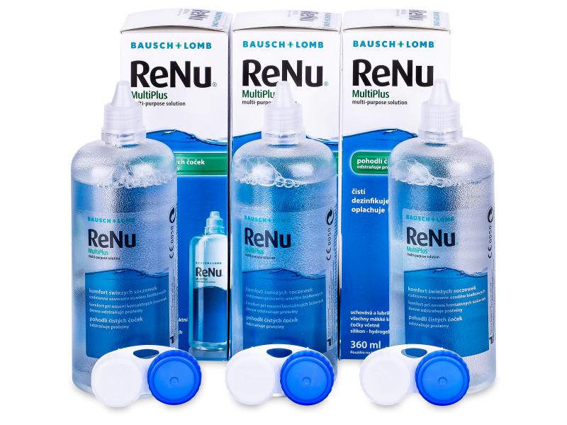 Image of   ReNu MultiPlus Solution 3 x 360 ml