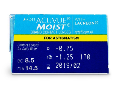 1 Day Acuvue Moist for Astigmatism (30 linser)