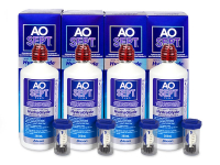 alensa.dk - Kontaktlinser - AO SEPT PLUS HydraGlyde 4x360ml Linsevæske